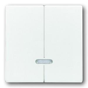 Клавиша двухклавишного светорегулятора ABB белый (6545-84)
