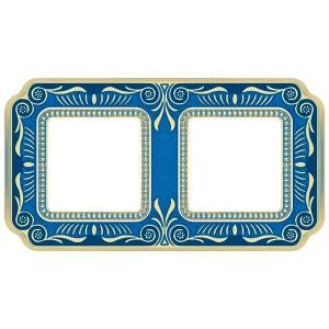 Рамка 2-ная Fede Firenze Smalto Italiano, blue sapphire