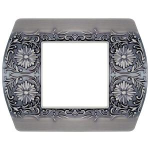 Рамка на 1 пост гор/верт Sanremo Fede antic silver