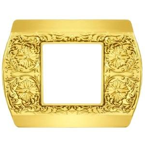 Рамка на 1 пост гор/верт Sanremo Fede bright gold