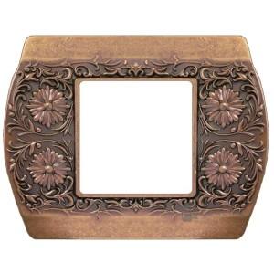 Рамка на 1 пост гор/верт Sanremo Fede rustic copper