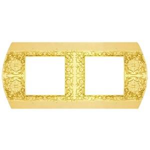 Рамка на 2 поста гор/верт Sanremo Fede bright gold