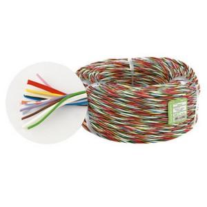 Fede W 14 - Витой кабель безгалогенный, сечение: 2 x 1 и 12 x 0.25 мм2, 100 м