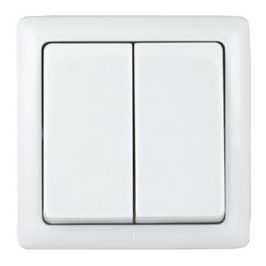 Двухклавишный выключатель Schneider Electric ХИТ 6А 250В о/у белый