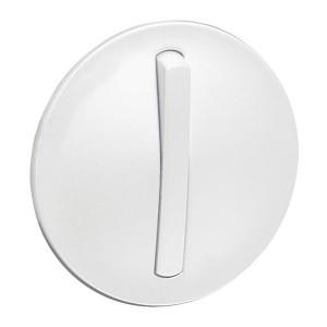 Накладка 1-клавишного тонкого выключателя slim (арт.:067002, 067032) Legrand Celiane Белый
