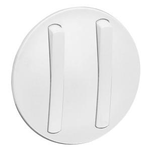 Накладка 2-клавишного тонкого выключателя slim (арт.:067002, 067032) Legrand Celiane Белый