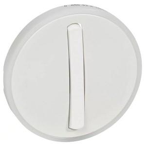 Накладка 1-клавишного тонкого выключателя с кольцевой подсветкой Legrand Celiane Белая