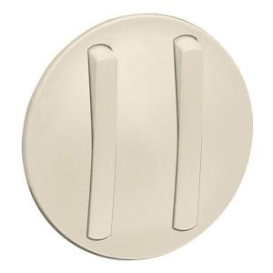 Накладка 2-клавишного тонкого выключателя slim (арт.:067002, 067032) Legrand Celiane Слоновая кость