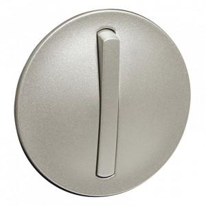 Лицевая панель 1-клавишного тонкого выключателя с кольцевой подсветкой Legrand Celiane титан