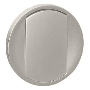 Лицевая панель 1-клавишного выключателя с кольцевой подсветкой Legrand Celiane титан