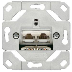 Розетка компьютерная  6 кат., двойная Gira механизм