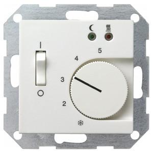 Термостат 230V с выносным датчиком System 55 Gira белый матовый