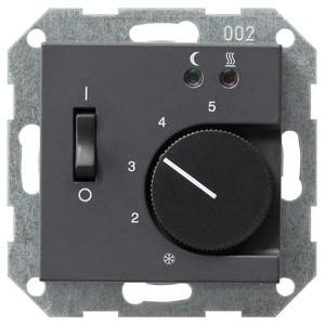 Термостат 230V с выносным датчиком System 55 Gira антрацит