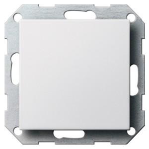 Заглушка с опорной пластиной Gira System 55 белый матовый