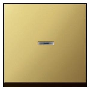 Клавиша 1-ая с подсветкой для выключателей и кнопок System 55 Gira латунь