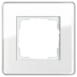 Рамка 1-ая Gira Esprit Glass C Белое стекло