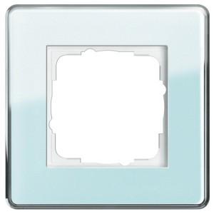 Рамка 1-ая Gira Esprit Glass C Салатовое стекло