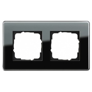 Рамка 2-ая Gira Esprit Glass C Черное стекло