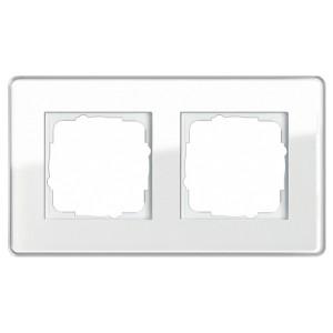 Рамка 2-ая Gira Esprit Glass C Белое стекло