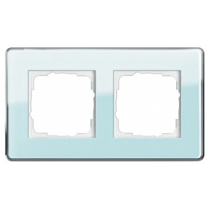 Рамка 2-ая Gira Esprit Glass C Салатовое стекло