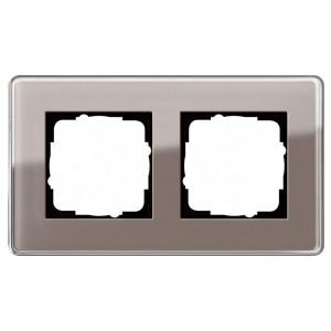 Рамка 2-ая Gira Esprit Glass C Дымчатое стекло