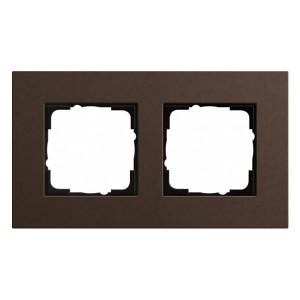Рамка 2-ая Gira Esprit Linoleum-Multiplex Коричневый