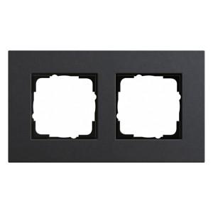 Рамка 2-ая Gira Esprit Linoleum-Multiplex Антрацит