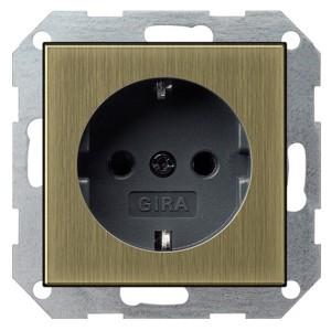 Розетка с/з Gira System 55 Бронза/черный
