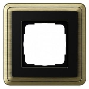 Рамка 1-ая Gira ClassiX Бронза/Черный