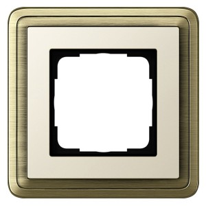 Рамка 1-ая Gira ClassiX Бронза/Кремовый