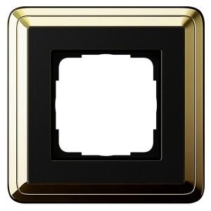 Рамка 1-ая Gira ClassiX Латунь/Черный