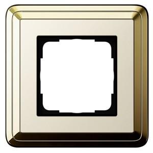 Рамка 1-ая Gira ClassiX Латунь/Кремовый