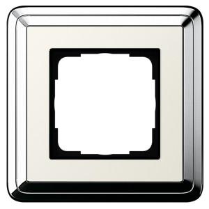 Рамка 1-ая Gira ClassiX Хром/Кремовый