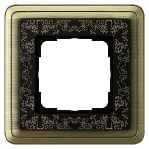 Рамка 1-ая Gira ClassiX Art Бронза/Черный
