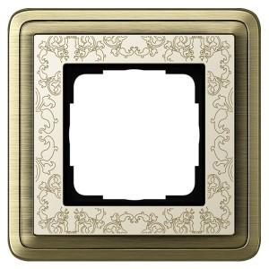 Рамка 1-ая Gira ClassiX Art Бронза/Кремовый