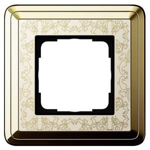 Рамка 1-ая Gira ClassiX Art Латунь/Кремовый
