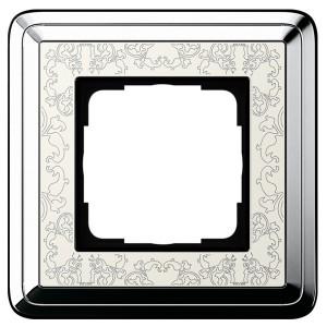 Рамка 1-ая Gira ClassiX Art Хром/Кремовый