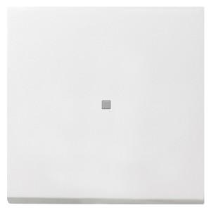Клавиша 1-ая с подсветкой для выключателей и кнопок F100 Gira белый глянцевый