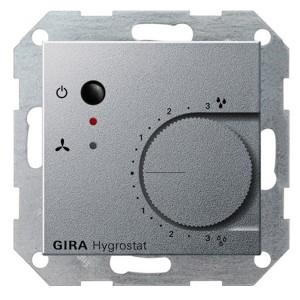 Гигростат электронный Gira System 55 алюминий