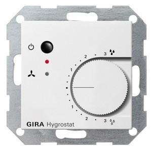 Гигростат электронный Gira System 55 белый матовый
