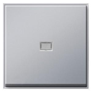Клавиша 1-ая с подсветкой для выключателей и кнопок TX_44 Gira алюминий
