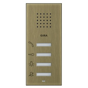 Квартирная аудиостанция накладного монтажа Gira System 55 бронза