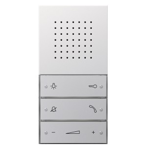 Внутренняя квартирная аудиостанция hand free скрытого монтажа Gira F100 Белый глянцевый