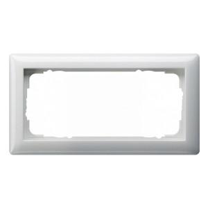 Рамка 2-я без перегородки Gira Standard 55 System 55 Белый глянцевый