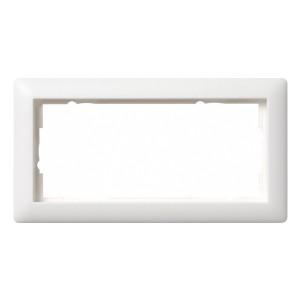 Рамка 2-я без перегородки Gira Standard 55 System 55 Белый матовый