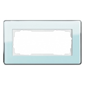 Рамка 2-я без перегородки Gira Esprit Glass C Салатовое стекло