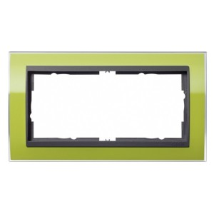 Рамка 2-ая без перегородки Gira Event Clear Зеленый цвет вставки Антрацит