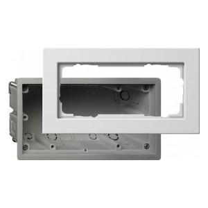 Монтажная коробка + 2-ая рамка без перегородки E22 Gira Белый глянцевый