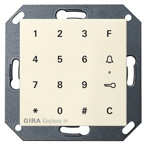 Цифровой кодовый замок Gira System 55 глянцевый кремовый