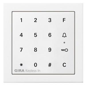 Цифровой кодовый замок Gira F100 глянцевый белый